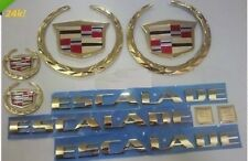 Cadillac ESCALADE 2002 2003 2004 2005 2006!! 24K GOLD PLATED EMBLEM PACKAGE!!