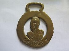 HORSE BRASS of KING GEORGE V GOOD DETAIL c1970s