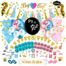 Gender Reveal Party Supplies -Boy or Girl -Pink and Blue Decorations  (127 PCS)