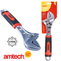 """10/"""" 250Mm Adjustable Wrench Spanner Injected Grip Heat Treated Drop Forged Steel"""