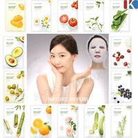 FACIAL MASK SHEET Real Nature Mask Sheet / Moisture Face Mask Pack Skin Care