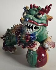 More details for cochin pottery mythical beast - qilin - foo dog?