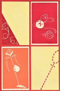 Lot of 4 JAPAN Japanese Art Artist Designed Postcards Woodblock Prints by Yumeji