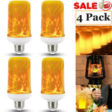 4 Pack LED Flame Effect Simulated Flicker Nature Fire Bulbs Light Decor E27 Lamp