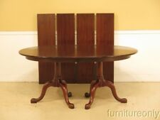 F36844: HENKEL HARRIS Oval Mahogany Dining Room Table