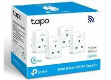 4 x TP Link Tapo P100 Smart Plug WiFi Outlet Alexa Voice Control Wireless Socket