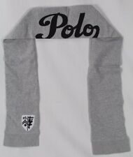 Polo Ralph Lauren Collectable Grey Black Crest Scarf NWT