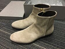 Alexander McQueen Suede Leather Grey Chelsea Ankle Boots 6 7 40 41 $799 Lanvin N