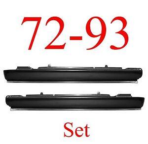 72 93 Dodge Extended Rocker Panel Set, 2 Door Ram Truck, NIB, 1580-101, 1580-102