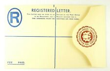 MINT GHANA EMBOSSED REGISTERED LETTER ENVELOPE