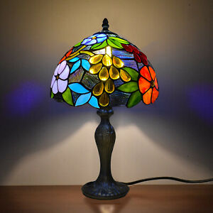 Beautiful Tiffany Style Table Lamp Gorgeous Pastoral Flowers Decoration Shade