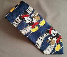 Disney Mickey Mouse Collector Men's Neck Tie Director Mickey Unlimited Blue