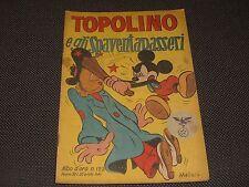 """ALBO D'ORO N.125 I° EDIZIONE 1948 TOPOLINO E GLI SPAVENTAPASSERI - OTTIMO """"U"""""""