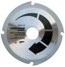 "Multi Purpose Circular Saw Blade 115mm 4 1/2 "" Angle Grinder Plastic MDF, Wood"