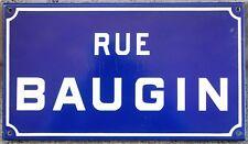 French enamel street sign plaque road name Lubin Baugin painter Etampes 1970s