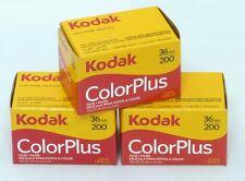 USD - 3 Rolls Kodak ColorPlus 200 35mm 36exp Color Print Film (Exp. 2019.10)