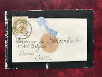 Belgien 1878 Trauerbrief König Leopold in die Schweiz Ankunfststempel Wabern
