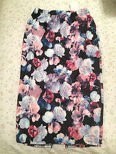 NEW GEORGE AT ASDA FLORAL PATTERNED SCUBA STYLE PENCIL SKIRT – UK 10