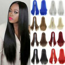 Women Long Hair Full Wig Curly Wavy Straight Hair Wigs Party Costume Cosplay h/d