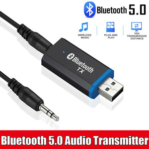 USB Bluetooth 5.0 Transmitter 3.5mm AUX Audio Adapter for Headphones Speaker TV