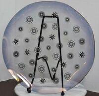 MID CENTURY MODERN Dorothy Thorpe Glama Glass Platter Tray Atomic Starburst