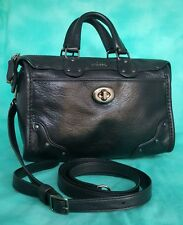 COACH Rhyder BLACK studded 33690 shoulder satchel crossbody leather purse tote