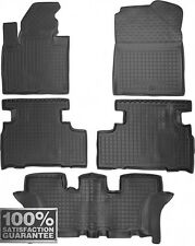 Rubber Carmats for Kia Sorento 7seat 2015- All Weather Floor Mats Fully Tailored