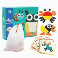 Jigsaw Puzzles For Kids Wooden Puzzles Colorful Cartoon Animals Puzzles Baby