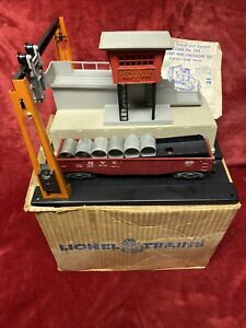 1959 Time Capsule Lionel 345 Culvert Unloader with ORIG BOX Culverts Car Instruc