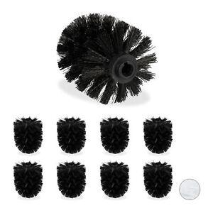 Ersatz Toilettenbürste Wechselbürste schwarz Griff 40cm Ersatzbürste Bürstenkopf
