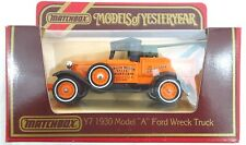 "VINTAGE MATCHBOX ""MODELS OF YESTERYEAR"" Y7 1930 MODEL ""A"" FORD WRECK TRUCK"