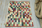 2.8x4.1 Kids Play Room Rug, Oushak Area Rug, Handwoven Colorful Squared Play Rug