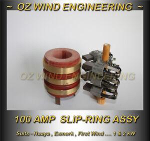 Slip Ring Assy 1kW-2.5kW -Wind Turbine Generator -100A Dual Brush -