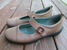 ECCO WOMENS SHOES BROWN LEATHER MARY JANES SIZE 41, 10.5