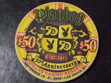New ListingPalms Playboy Casino Resort $50 hotel casino gaming poker chip ~ Las Vegas, Nv