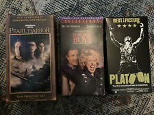 Lot 3 VHS Movies Pearl Harbor Platoon For the Boys Midler