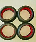 RC AKA 1/8 TRUGGY GRIDIRON TIRES-SET OF 4-RED FOAM INSERTS-NEW