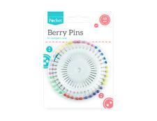 Caja de costura Kit de color baya de cabeza los pines +40 Agujas De Coser A Mano En Práctico Dispensador