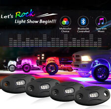RGB + White 4 pods App Control LED Rock Lights for 4x4 Chevrolet GMC Kenworth