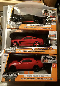 JADA BIGTIME MUSCLE LOPRO R/C RC RADIO REMOTE CONTROL CAR LOT OF 3 MUSTANG BOSS+