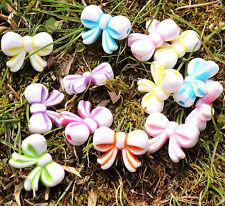 40pcs bow Craft Plastic Loose pony Beads Charms DIY bracelet making Bowkno beads