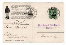NORWAY/POLAR: Postcard to Denmark from Fram, Amundsen, Polhavet 1914, scarce(B1)