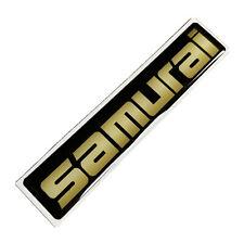 Suzuki Samurai SJ Front Wing Badge Decal Emblem Gold Effect