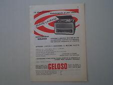 advertising Pubblicità 1959 GELOSO RADIO FONOGRAFO SERIE 360/340
