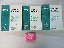 1998 PONTIAC GRAND AM / OLDSMOBILE ACHIEVA / BUICK SKYLARK SERVICE MANUAL SET