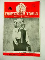 Equestrian Trails Magazine Judy Tate State Queen 1959-1960 July 1959