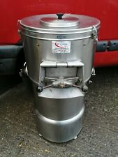 "STAINLESS STEEL POTATO RUMBLER / POTATO PEELER "" HAD TURN TABLE RE GRITTED ""..."
