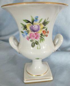 Herend Porcelain Flowered Urn/Vase 11 cms
