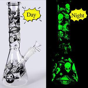 Glass Water Bong Pipes 11 inch Hookah Tobacco Smoking Perc Bottle Shisha Bubbler