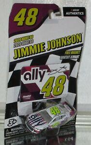 2020 JIMMIE JOHNSON #48 ALLY WHITE NASCAR AUTHENTICS 1/64 WAVE 8 W/MAGNET